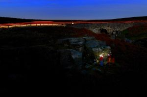 Night Bouldering at Burbage Bridge